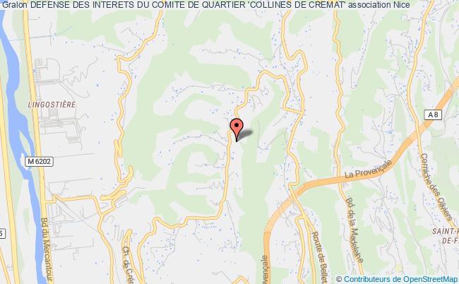plan association Defense Des Interets Du Comite De Quartier 'collines De Cremat'