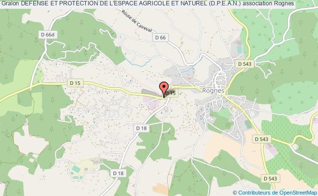 plan association Defense Et Protection De L'espace Agricole Et Naturel (d.p.e.a.n.)