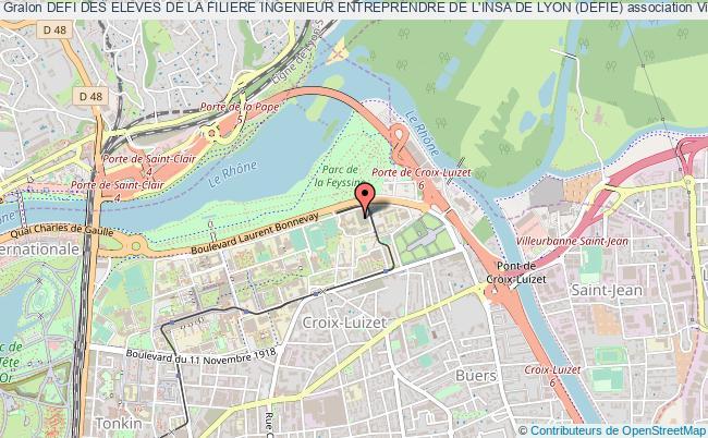 plan association Defi Des Eleves De La Filiere Ingenieur Entreprendre De L'insa De Lyon (defie)