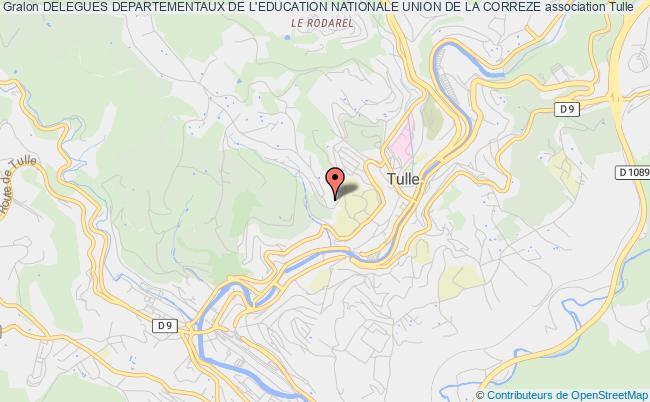 plan association Delegues Departementaux De L'education Nationale Union De La Correze