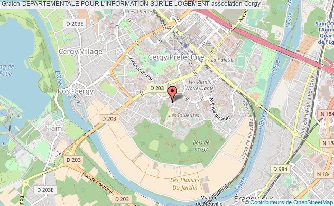 plan association Departementale Pour L'information Sur Le Logement Cergy