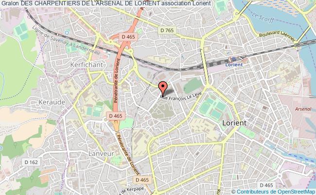 plan association Des Charpentiers De L'arsenal De Lorient