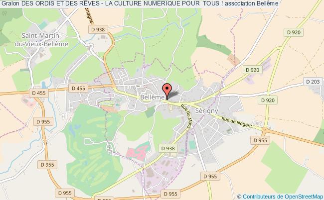 plan association Des Ordis Et Des RÊves - La Culture NumÉrique Pour  Tous !