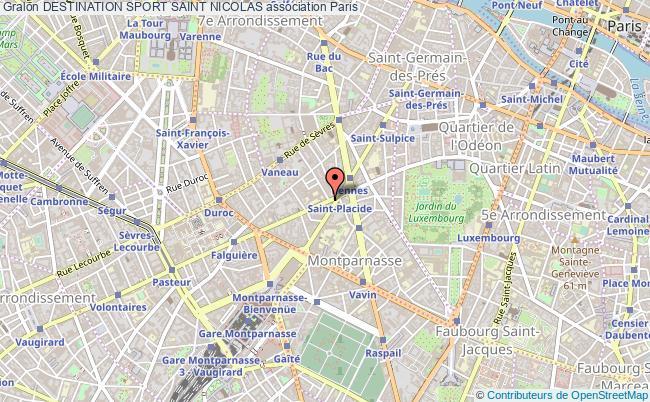 plan association Destination Sport Saint Nicolas Paris