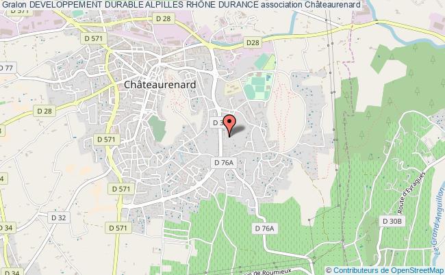 plan association Developpement Durable Alpilles RhÔne Durance