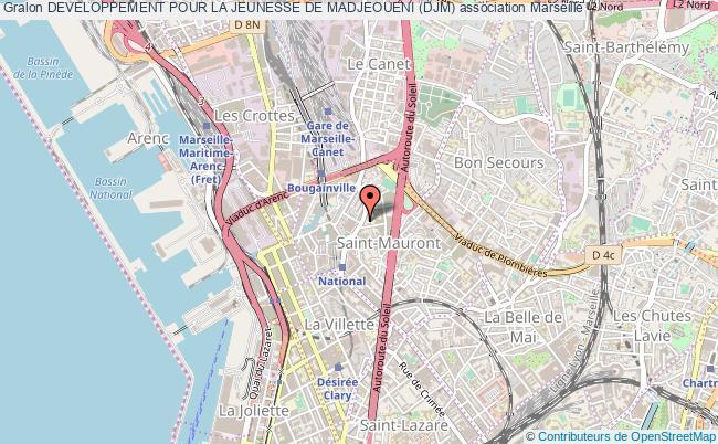 plan association Developpement Pour La Jeunesse De Madjeoueni (djm) Marseille