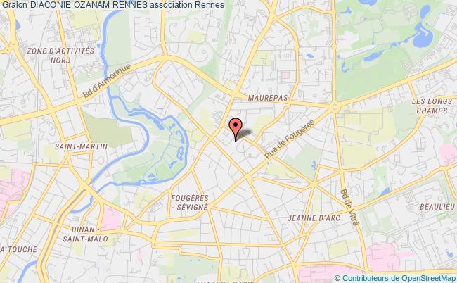 plan association Diaconie Ozanam Rennes