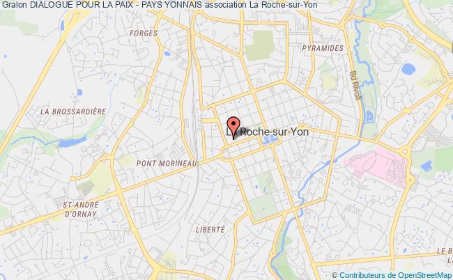 plan association Dialogue Pour La Paix - Pays Yonnais La    Roche-sur-Yon