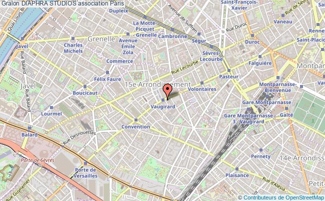 plan association Diaphra Studios Paris