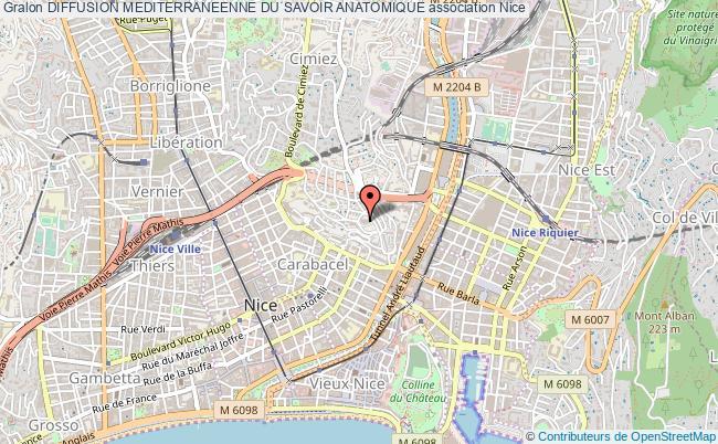 plan association Diffusion Mediterraneenne Du Savoir Anatomique