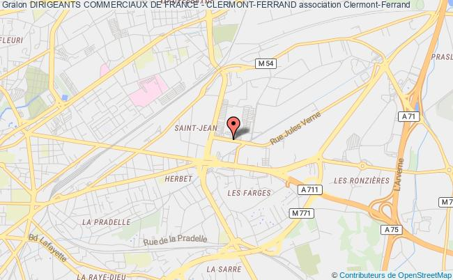 plan association Dirigeants Commerciaux De France - Clermont-ferrand