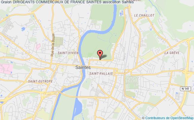 plan association Dirigeants Commerciaux De France Saintes