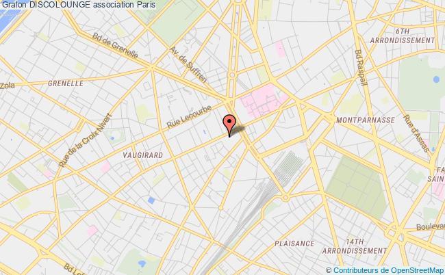 plan association Discolounge Paris 15e