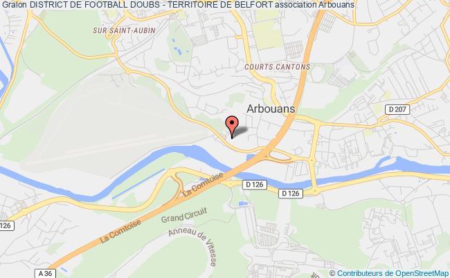 plan association District De Football Doubs - Territoire De Belfort