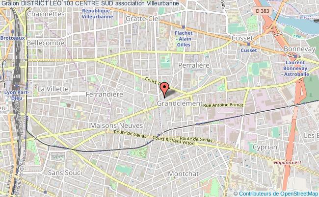plan association District Leo 103 Centre Sud