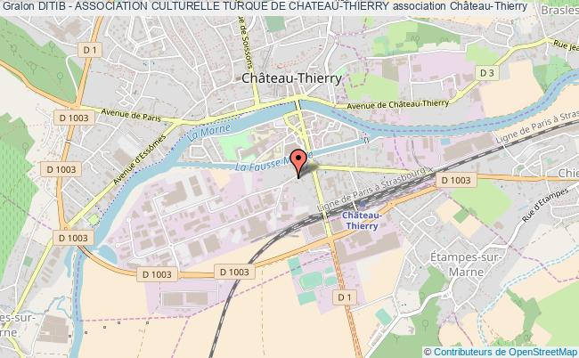 plan association Ditib - Association Culturelle Turque De Chateau-thierry