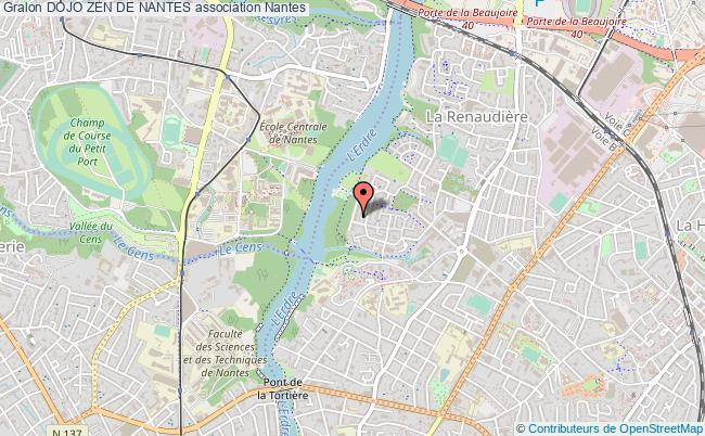 plan association Dojo Zen De Nantes