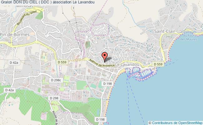 plan association Don Du Ciel ( Ddc ) Le    Lavandou