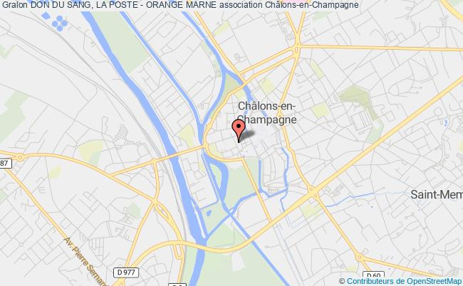 plan association Don Du Sang, La Poste - Orange Marne