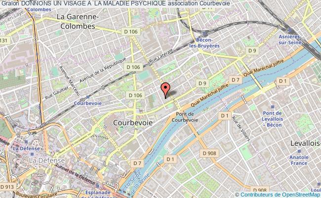 plan association Donnons Un Visage A  La Maladie Psychique Courbevoie