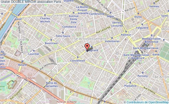 plan association Double Miroir Paris