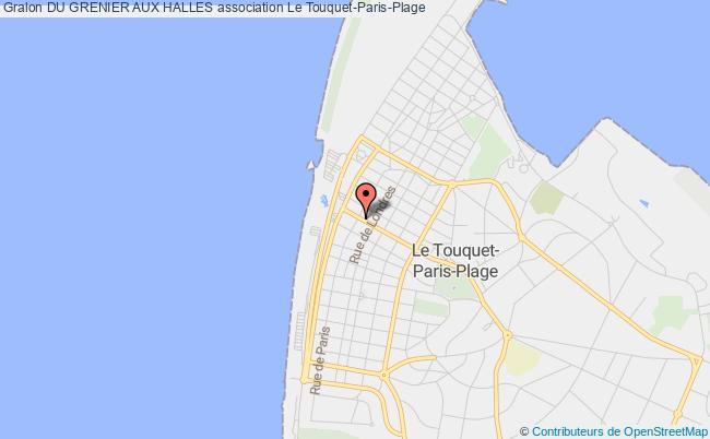 plan association Du Grenier Aux Halles Touquet-Paris-Plage