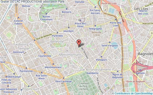 plan association Du Lac Productions Paris