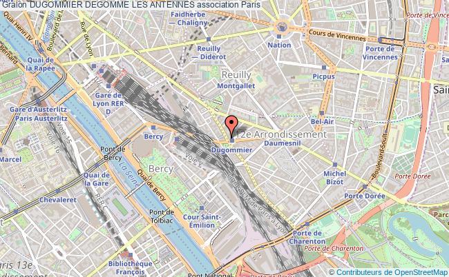 plan association Dugommier Degomme Les Antennes Paris