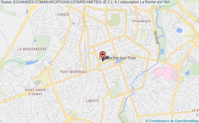 plan association Echanges-communications-loisirs-amities-(e.c.l.a.) La    Roche-sur-Yon