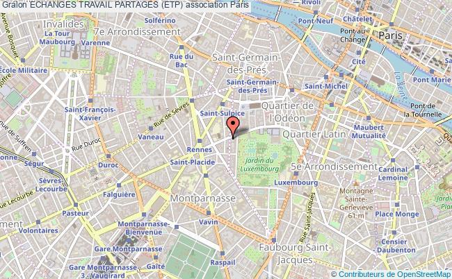 plan association Echanges Travail Partages (etp) Paris 6e