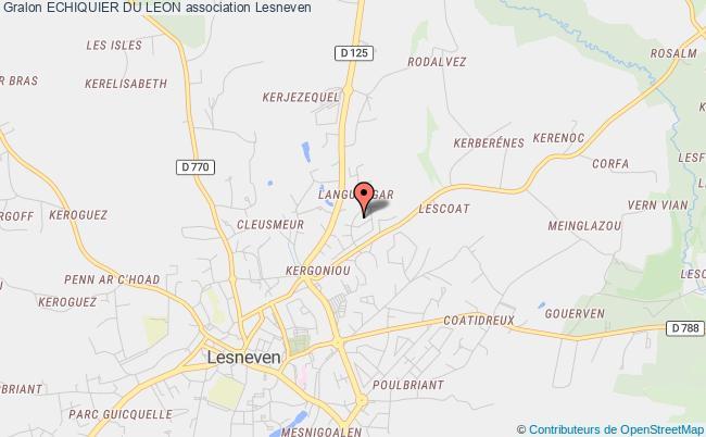 plan association Echiquier Du Leon Lesneven