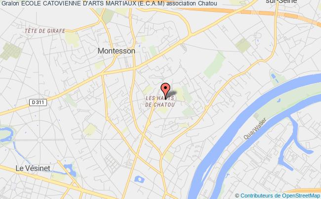 plan association Ecole Catovienne D'arts Martiaux (e.c.a.m) Chatou