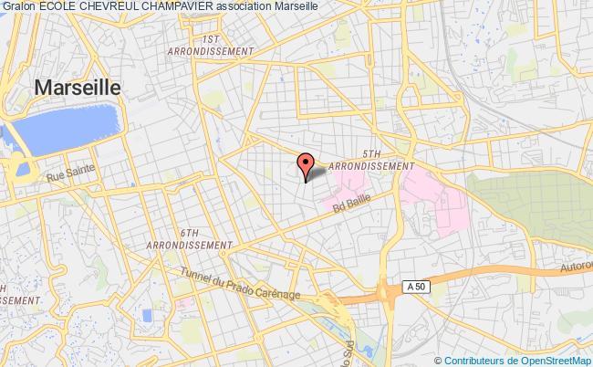 plan association Ecole Chevreul Champavier Marseille