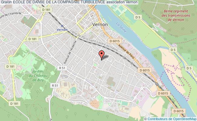 plan association Ecole De Danse De La Compagnie Turbulence Vernon