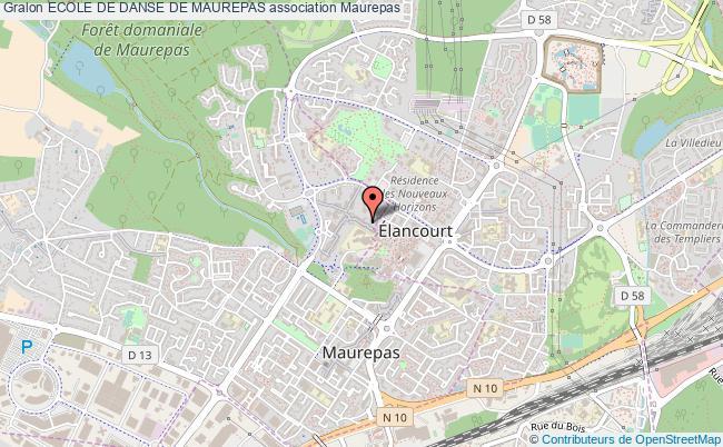 plan association Ecole De Danse De Maurepas Maurepas