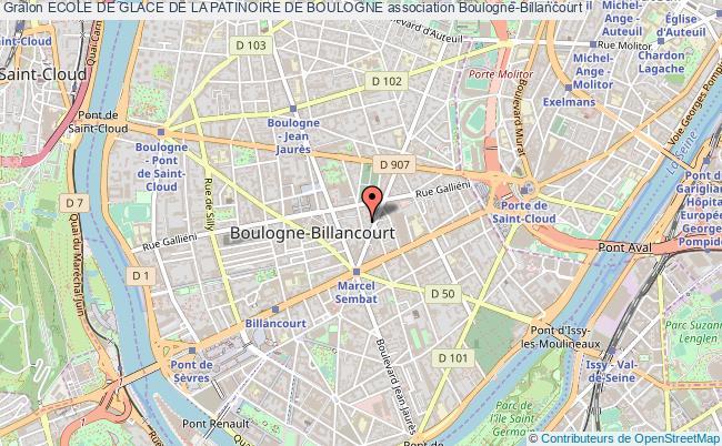 plan association Ecole De Glace De La Patinoire De Boulogne