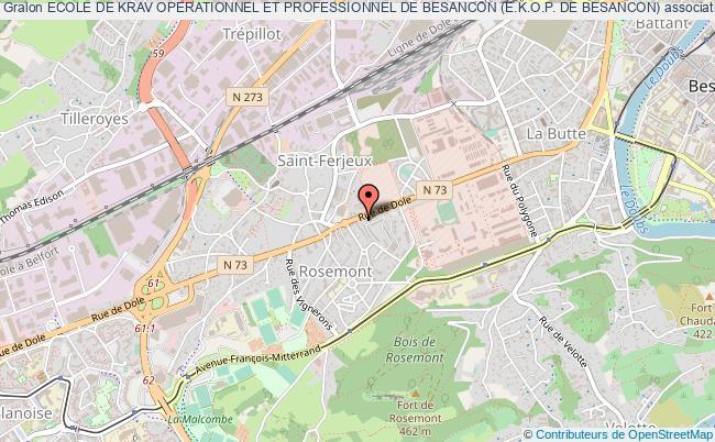 plan association Ecole De Krav Operationnel Et Professionnel De Besancon (e.k.o.p. De Besancon) Besançon