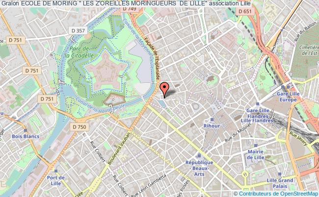 """plan association Ecole De Moring """" Les Z'oreilles Moringueurs  De Lille"""""""