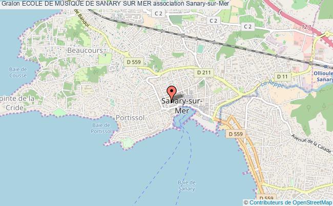 plan association Ecole De Musique De Sanary Sur Mer