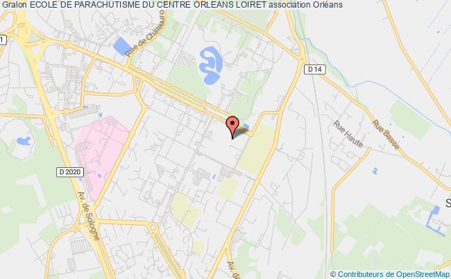 plan association Ecole De Parachutisme Du Centre Orleans Loiret