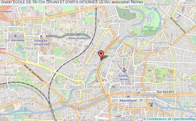plan association Ecole De Tai Chi Chuan Et D'arts Internes ((etai) Rennes