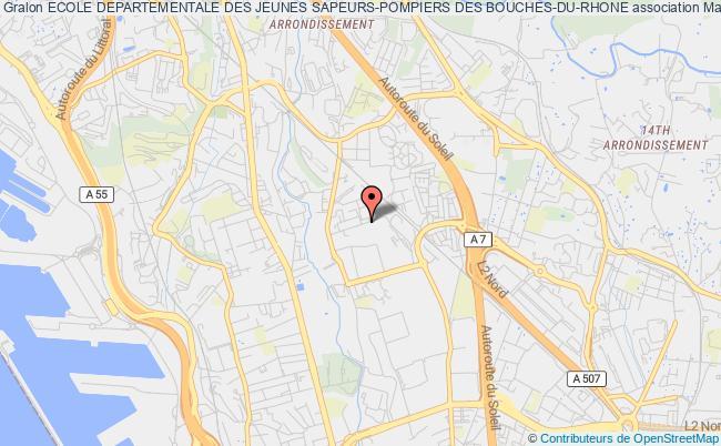 plan association Ecole Departementale Des Jeunes Sapeurs-pompiers Des Bouches-du-rhone Marseille