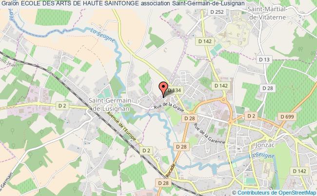 plan association Ecole Des Arts De Haute Saintonge