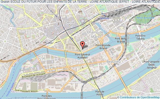 plan association Ecole Du Futur Pour Les Enfants De La Terre - Loire Atlantique (effet - Loire Atlantique)