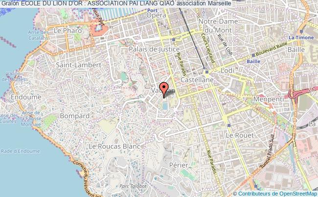 plan association Ecole Du Lion D'or : Association Pai Liang Qiao Marseille