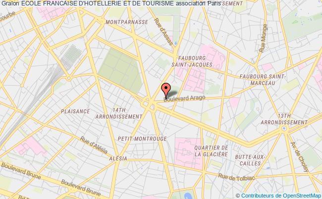 plan association Ecole FranÇaise D'hotesse Et De Tourisme