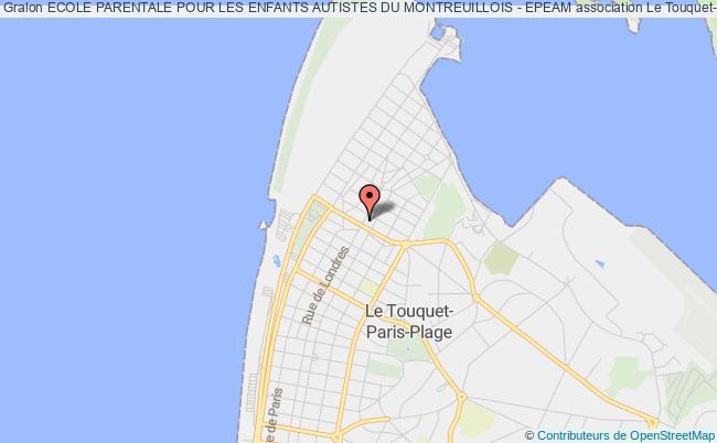 plan association Ecole Parentale Pour Les Enfants Autistes Du Montreuillois - Epeam Le    Touquet-Paris-Plage