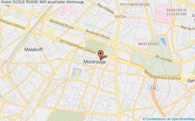plan association École Russe Mir Montrouge