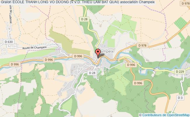 plan association Ecole Thanh Long Vo Duong (v.v.d. Thieu Lam Bat Quai)