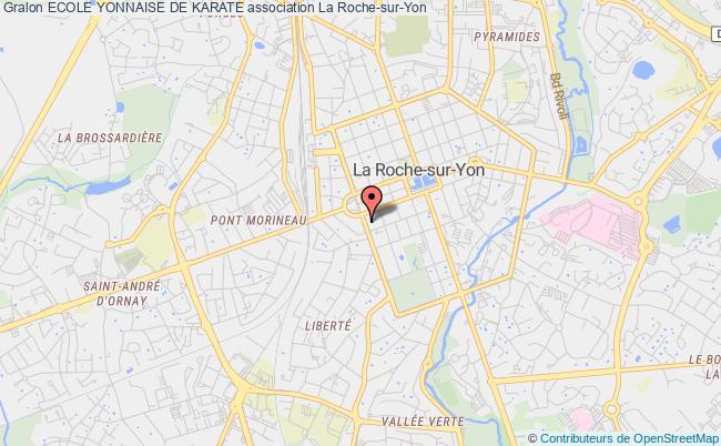 plan association Ecole Yonnaise De Karate La    Roche-sur-Yon